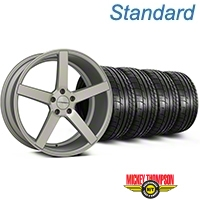 Matte Silver Machined CV3 Wheel & Mickey Thompson Tire Kit - 19x8.5 (05-14 All) - Vossen KIT||102160||79539