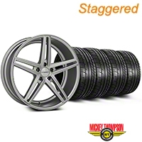 Staggered Silver Polished CV5 Wheel & Mickey Thompson Tire Kit - 20x9/10.5 (05-14 All) - Vossen KIT||102180||102181||79541||79542