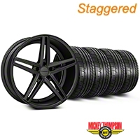 Staggered Matte Graphite CV5 Wheel & Mickey Thompson Tire Kit - 20x9/10.5 (05-14 All) - Vossen KIT||102184||102185||79541||79542