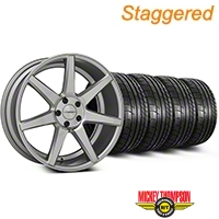 Staggered Silver Polished CV7 Wheel & Mickey Thompson Tire Kit - 19x8.5/10 (05-14 All) - Vossen KIT||102168||102169||79539||79540