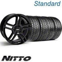 Black GT500 Wheel & NITTO Tire Kit - 18x9 (10-12)