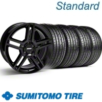 Black GT500 Wheel & Sumitomo Tire Kit - 19x8.5 (10-12)