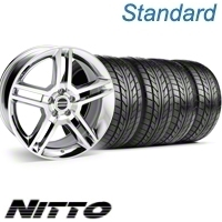 Chrome GT500 Wheel & NITTO Tire Kit - 18x9 (10-12)