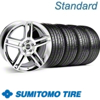 Chrome GT500 Wheel & Sumitomo Tire Kit - 19x8.5 (10-12)