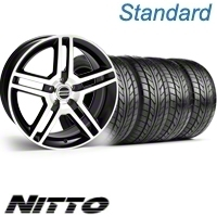 Black Machined GT500 Wheel & NITTO Tire Kit - 18x9 (10-12)