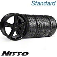 Black GT Premium Wheel & NITTO Tire Kit - 18x9 (10-12)