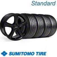 Black GT Premium Wheel & Sumitomo Tire Kit - 19x8.5 (10-12)