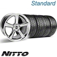Chrome GT Premium Wheel & NITTO Tire Kit - 18x9 (10-12)
