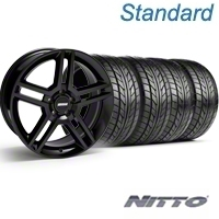 Black GT500 Wheel & NITTO Tire Kit - 18x9 (05-14) - AmericanMuscle Wheels KIT||28219||76009