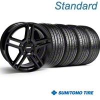 Black GT500 Wheel & Sumitomo Tire Kit - 19x8.5 (05-14) - AmericanMuscle Wheels KIT||28236||63036