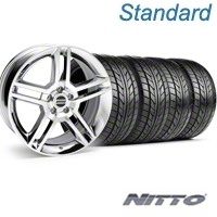 Chrome GT500 Wheel & NITTO Tire Kit - 18x9 (05-14) - AmericanMuscle Wheels KIT||28220||76009