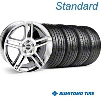 Chrome GT500 Wheel & Sumitomo Tire Kit - 19x8.5 (05-14) - AmericanMuscle Wheels KIT||28237||63036