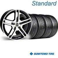 Black Machined GT500 Wheel & Sumitomo Tire Kit - 19x8.5 (05-14) - AmericanMuscle Wheels KIT||28238||63036
