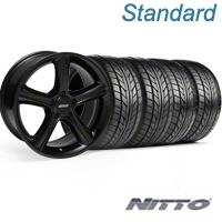 Black GT Premium Wheel & NITTO Tire Kit - 18x9 (05-14) - AmericanMuscle Wheels KIT||28210||76009