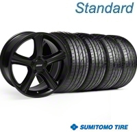 Black GT Premium Wheel & Sumitomo Tire Kit - 19x8.5 (05-14) - AmericanMuscle Wheels KIT||28230||63036