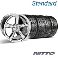 Chrome GT Premium Wheel & NITTO Tire Kit - 18x9 (05-14) - AmericanMuscle Wheels KIT||28211||76009