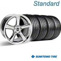 Chrome GT Premium Wheel & Sumitomo Tire Kit - 19x8.5 (05-14) - AmericanMuscle Wheels KIT||28231||63036