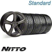 Hypercoated GT Premium Wheel & NITTO Tire Kit - 18x9 (05-12) - AmericanMuscle Wheels KIT||28212||76009