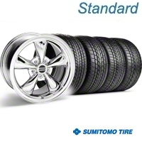 Chrome Bullitt Wheel & Sumitomo Tire Kit - 17x8 (94-04) - AmericanMuscle Wheels KIT||28089||63004