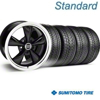 Black Bullitt Wheel & Sumitomo Tire Kit - 17x8 (94-04) - AmericanMuscle Wheels KIT||28088||63004