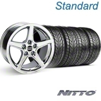 Chrome Saleen Style Wheel & NITTO Tire Kit - 18x9 (99-04) - AmericanMuscle Wheels KIT||28251||76013
