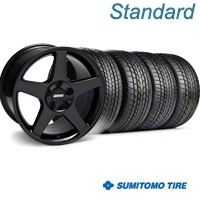 Black 2003 Cobra Wheel & Sumitomo Tire Kit - 17x9 (99-04) - AmericanMuscle Wheels KIT||28076||63000