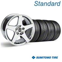Chrome 2003 Cobra Wheel & Sumitomo Tire Kit - 17x9 (99-04) - AmericanMuscle Wheels KIT||28004||63000