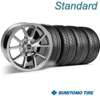 Chrome FR500 Wheel & Sumitomo Tire Kit - 17x9 (99-04) - AmericanMuscle Wheels KIT||28094||63000