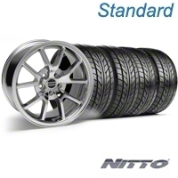 Chrome FR500 Wheel & NITTO Tire Kit - 18x9 (99-04) - AmericanMuscle Wheels KIT||76013||28273