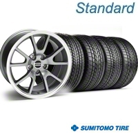 Anthracite FR500 Wheel & Sumitomo Tire Kit - 17x9 (99-04) - AmericanMuscle Wheels KIT||28090||63000