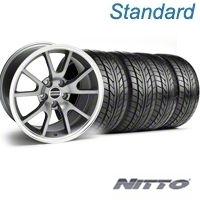 Anthracite FR500 Wheel & NITTO Tire Kit - 18x9 (99-04) - AmericanMuscle Wheels KIT||28274||76013