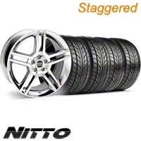 Staggered Chrome GT500 Wheel & NITTO Tire Kit - 18x9/10 (10-12)