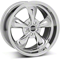 Staggered Chrome Bullitt Wheel & NITTO Tire Kit - 18x9/10 (10-12)