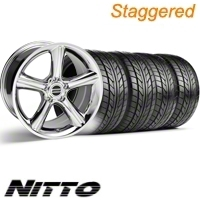 Staggered Chrome GT Premium Wheel & NITTO Tire Kit - 18x9/10 (10-12)