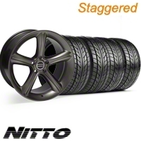 Staggered Hypercoated GT Premium Wheel & NITTO Tire Kit - 18x9/10 (10-12)
