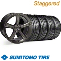 Staggered Hypercoated GT Premium Wheel & Sumitomo Tire Kit - 19x8.5/10 (10-12)