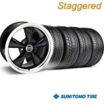 Staggered Black Bullitt Wheel & Sumitomo Tire Kit - 17x9/10.5 (99-04) - AmericanMuscle Wheels KIT||28261||28113||63000||63003
