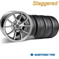 Staggered Chrome FR500 Wheel & Sumitomo Tire Kit - 17x9/10.5 (99-04) - AmericanMuscle Wheels KIT||28094||28095||63000||63003