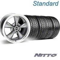 Bullitt Anthracite Wheel & NITTO Tire Kit - 17x9 (05-14 V6; 05-10 GT) - American Muscle Wheels KIT