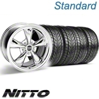 Chrome Bullitt Wheel & NITTO Tire Kit - 17x9 (10-12)