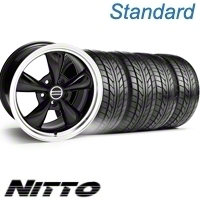 Black Bullitt Wheel & NITTO Tire Kit - 17x9 (10-12)