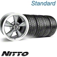 Anthracite Bullitt Wheel & NITTO Tire Kit - 17x9 (10-12)