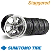Staggered Hypercoated Bullitt Wheel & Sumitomo Tire Kit - 17x9/10.5 (99-04)