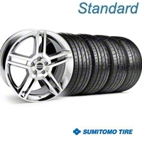 Chrome 2010 GT500 Wheel & Sumitomo Tire Kit - 19x8.5 (99-04) - AmericanMuscle Wheels KIT||28237||63035