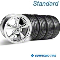 Chrome Bullitt Wheel & Sumitomo Tire Kit - 20x8.5 (05-10 GT, V6) - AmericanMuscle Wheels KIT||28037||63024