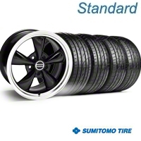 Bullitt Black Wheel & Sumitomo Tire Kit - 20x8.5 (05-14 V6; 05-10 GT) - American Muscle Wheels KIT