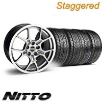 Staggered Hypercoated GT4 Wheel & NITTO Tire Kit - 18x9/10 (05-12)