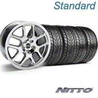 Chrome 2007 Style GT500 Wheel & NITTO Tire Kit - 18x9.5 (05-14) - AmericanMuscle Wheels KIT||28045||63008
