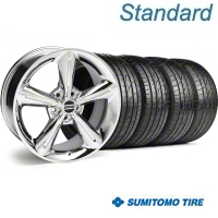 Chrome 2010 OE Style Wheel & Sumitomo Tire Kit - 18x8 (05-14) - AmericanMuscle Wheels KIT||28254||63039