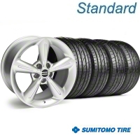 Silver 2010 OE Style Wheel & Sumitomo Tire Kit - 18x8 (05-14) - AmericanMuscle Wheels KIT||28255||63039
